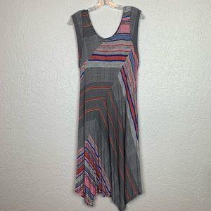 Premise XL dress striped handkerchief hem VGUC